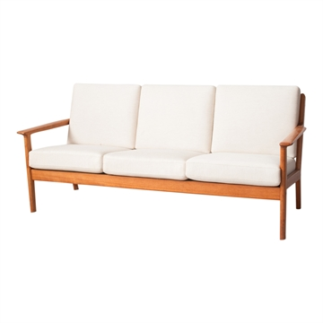 Kissenset in Stoff Seaside für Hans J Wegner GE 265  3 Pers Sofa