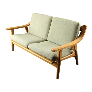 Kissenset in Seaside stoff für Hans J  Wegner GE 530 2pers. sofa