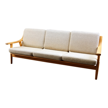 Kissenset in Basic Select Leder für Hans J Wegner GE 530 3pers Sofa
